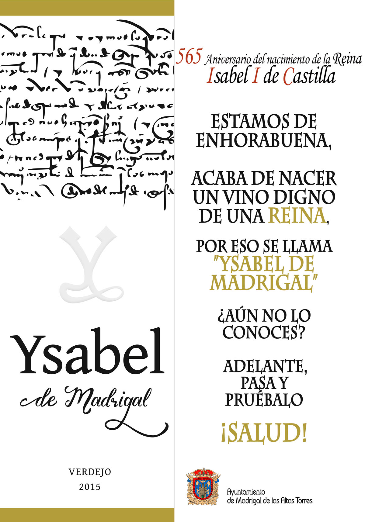 Cartel presentación vino Ysabel de Madrigal