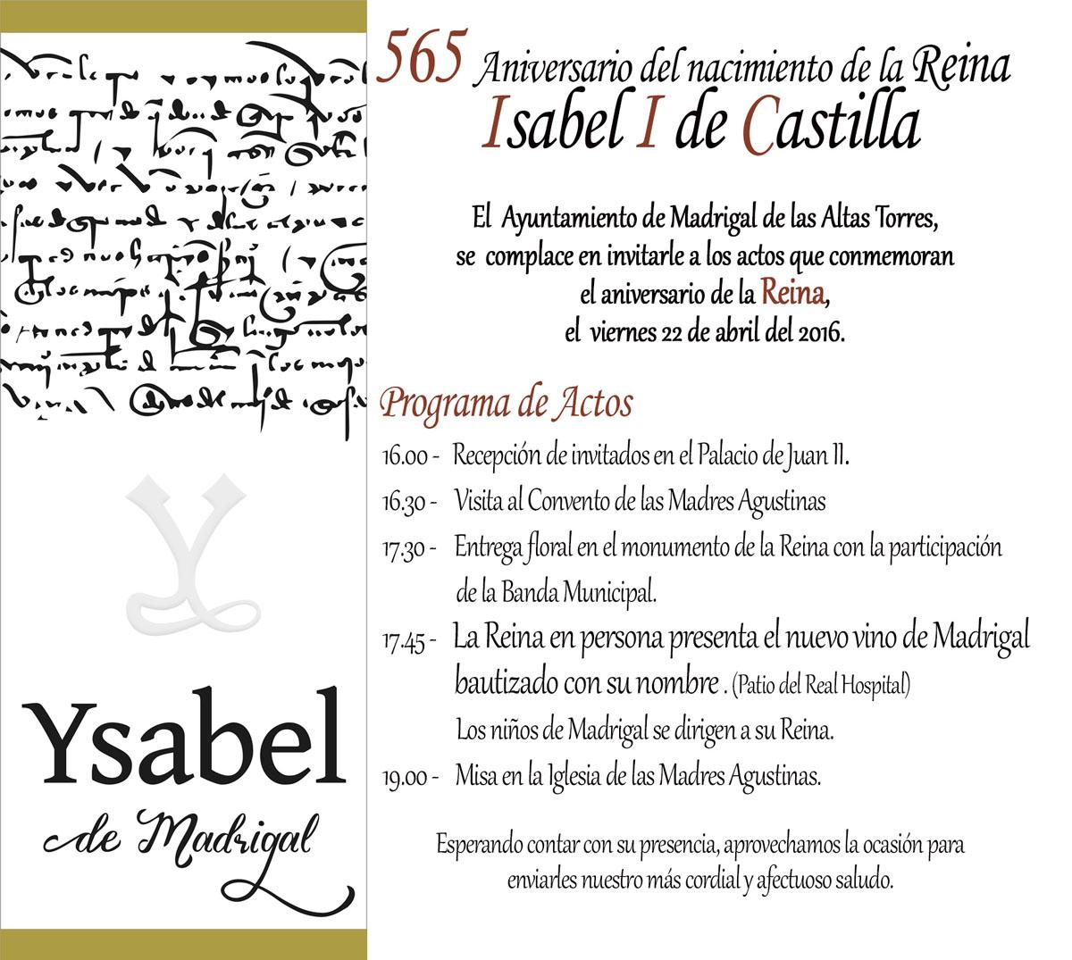 Programa de Actos 565 Aniversario