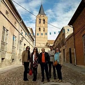 Visita del alcalde de Benimodo D. Francisco Teruel  Machí al Municipio de Madrigal