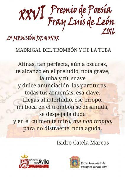 2a Mención de Honor - XXVI Premios de Poesía Fray Luis de León