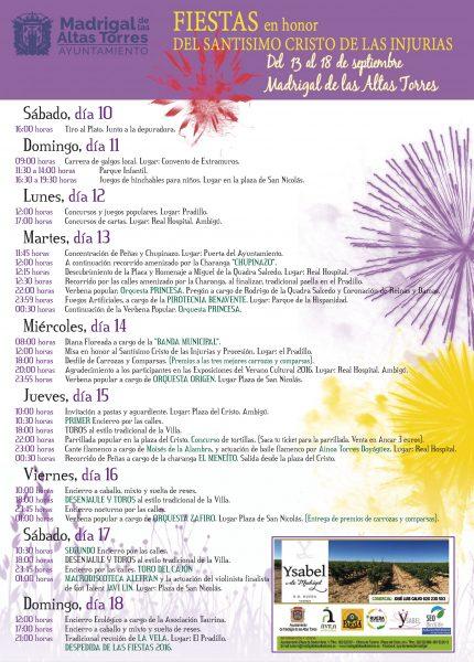 Resumen Programa Fiestas 2016