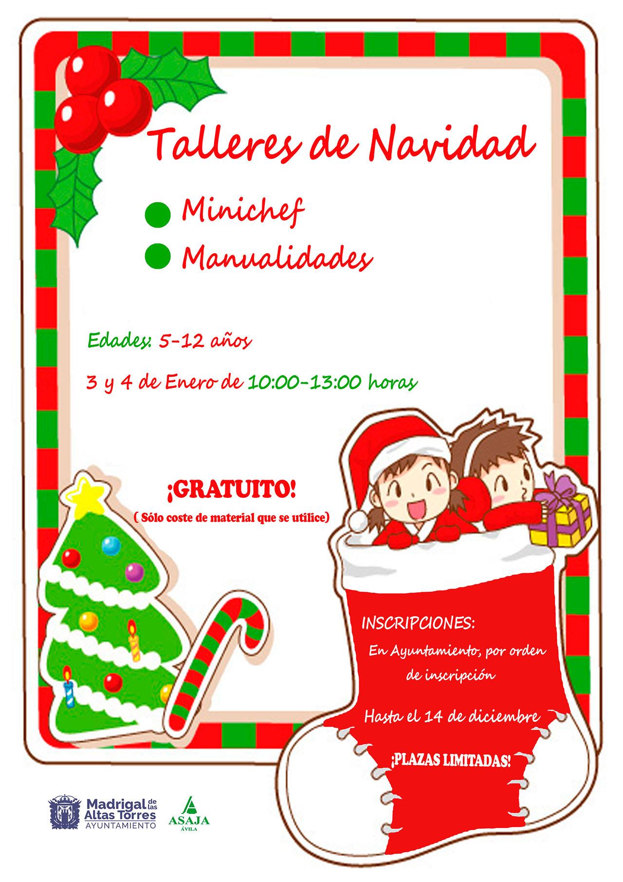Talleres de navidad minichef y manualidades - Detalles de navidad manualidades ...
