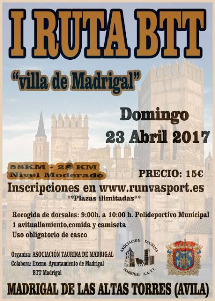cartel BTT Madrigal 2