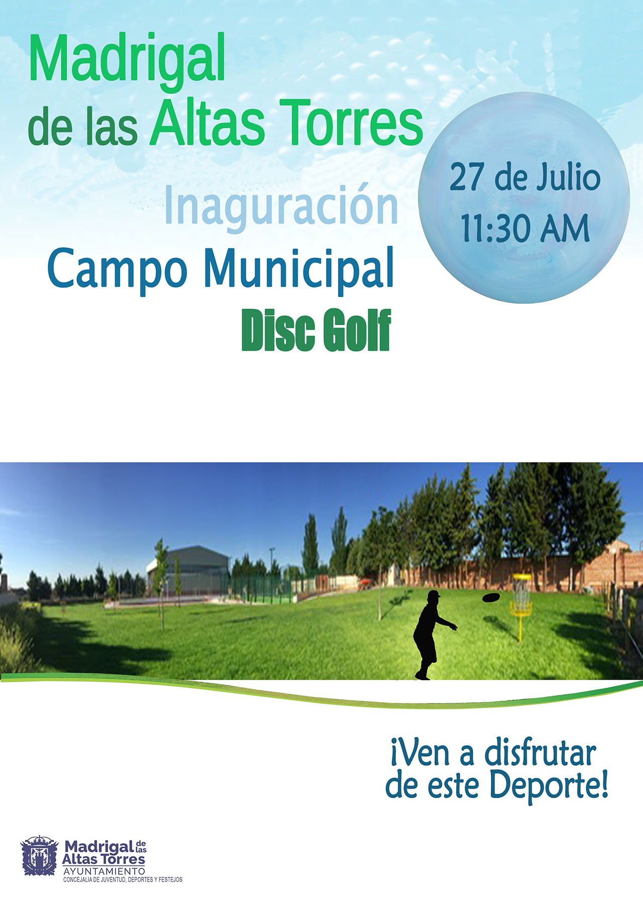 Cartel Inauguración Disc Golf