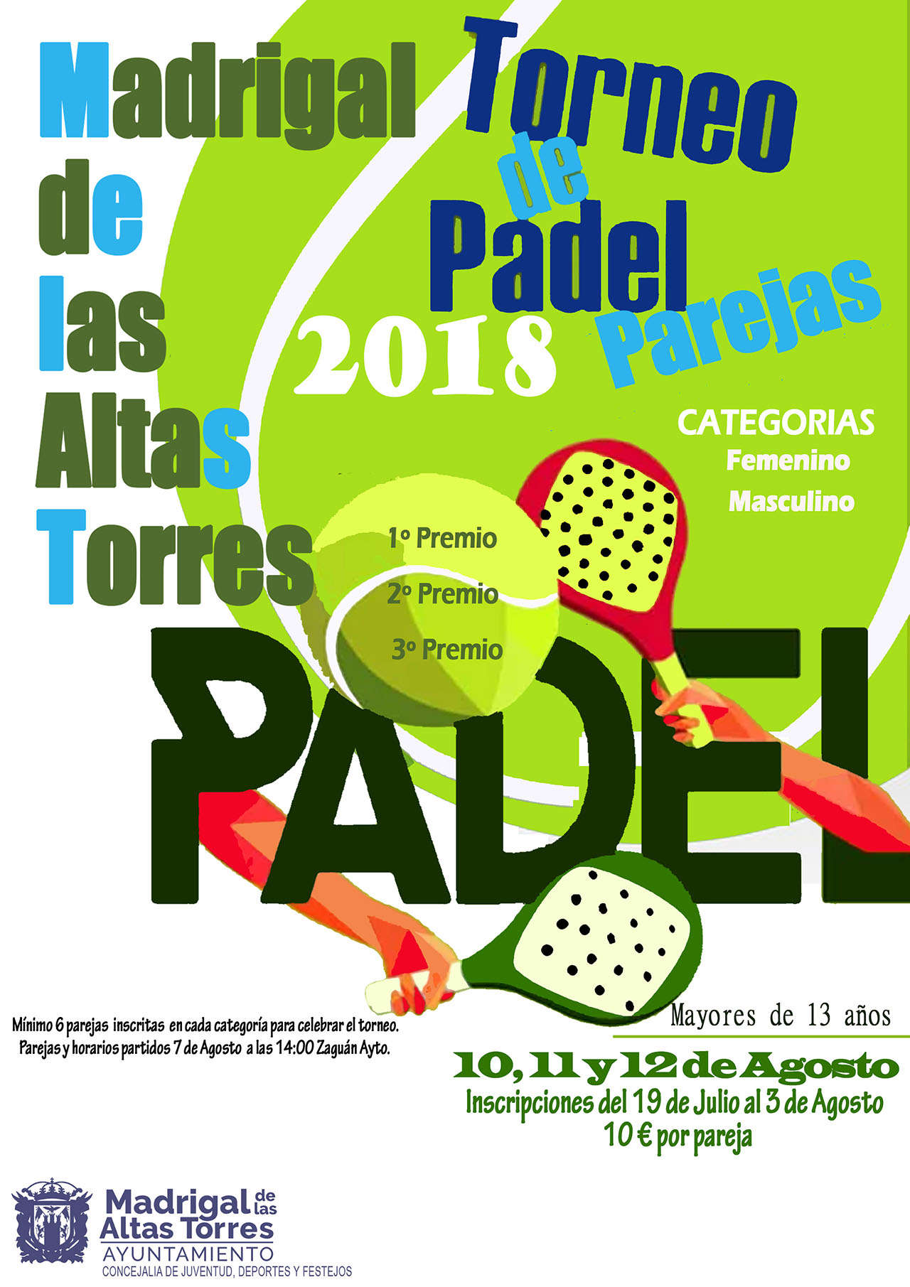 CARTEL PADEL 2018