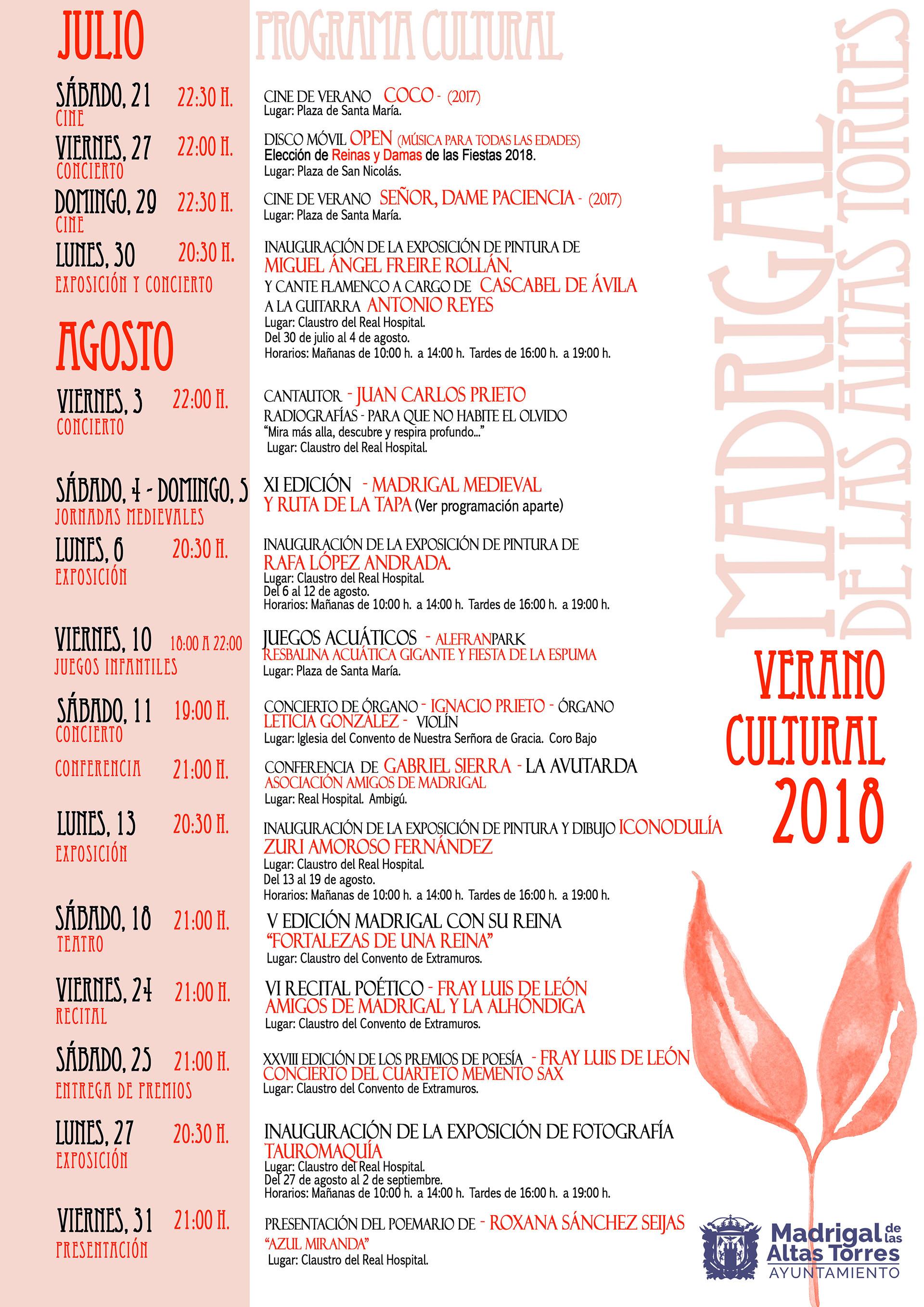 Programa Verano Cultural 2018