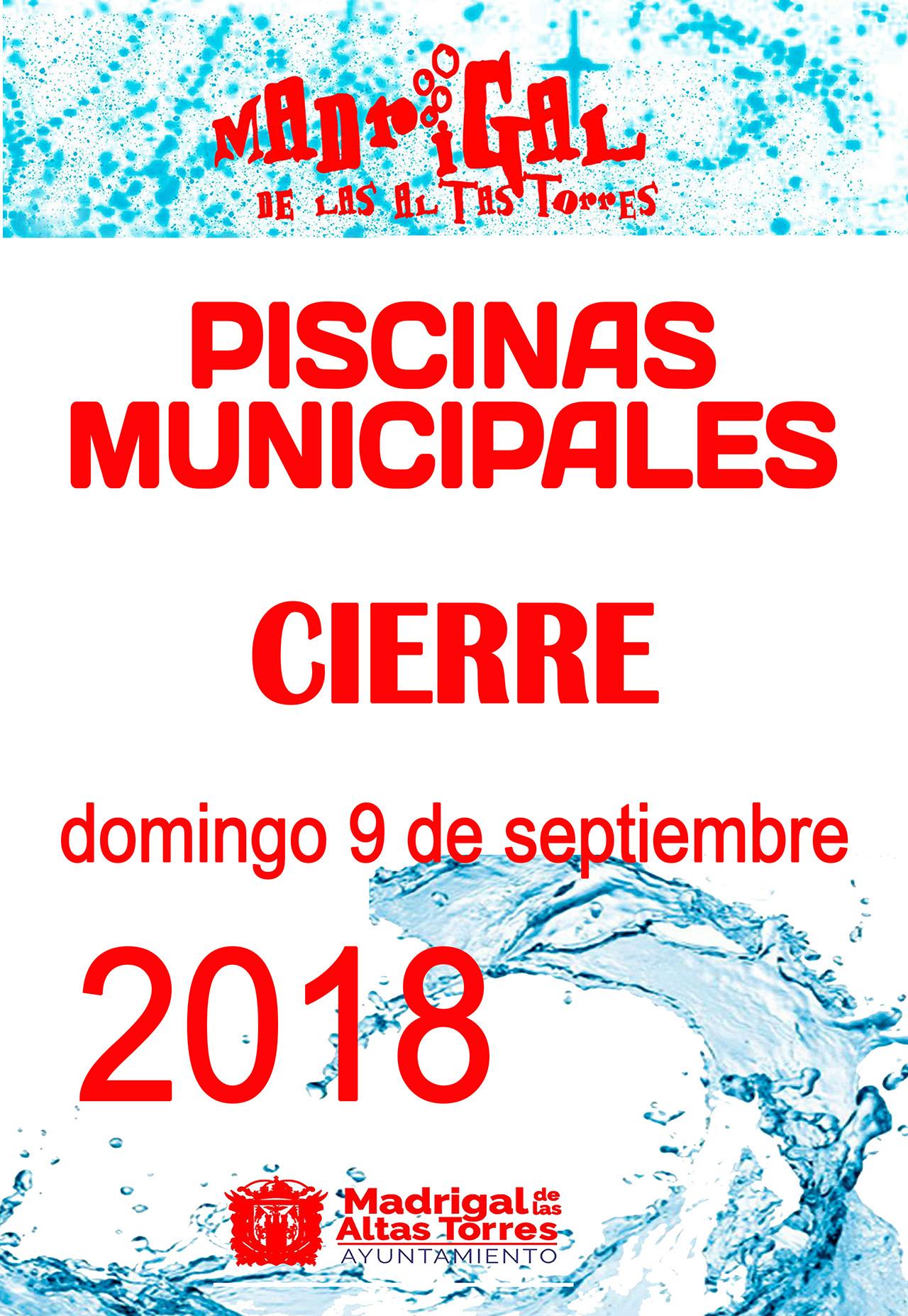 Cierre Piscinas 2018