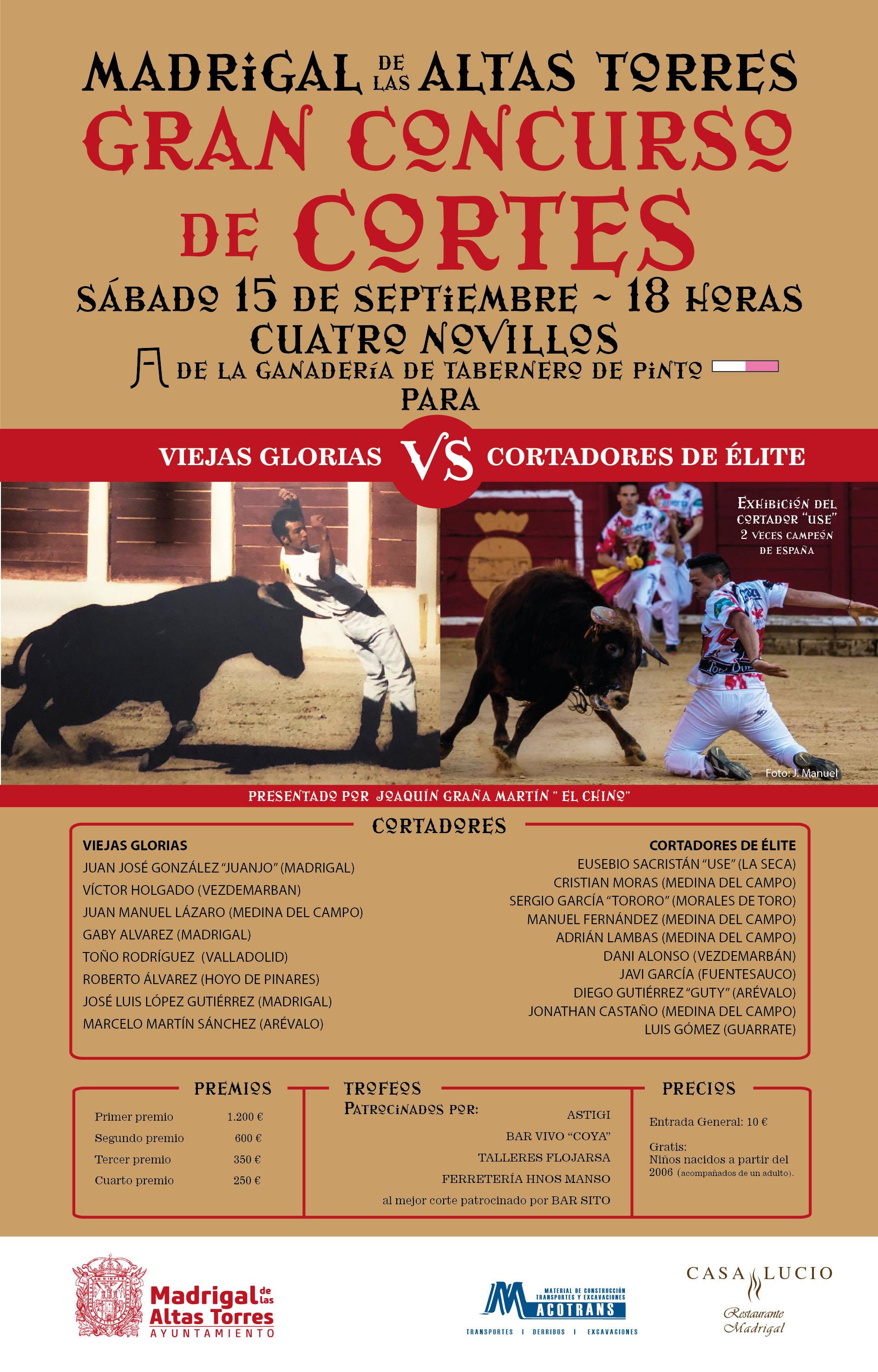 Cartel Cortes Madrigal 2018