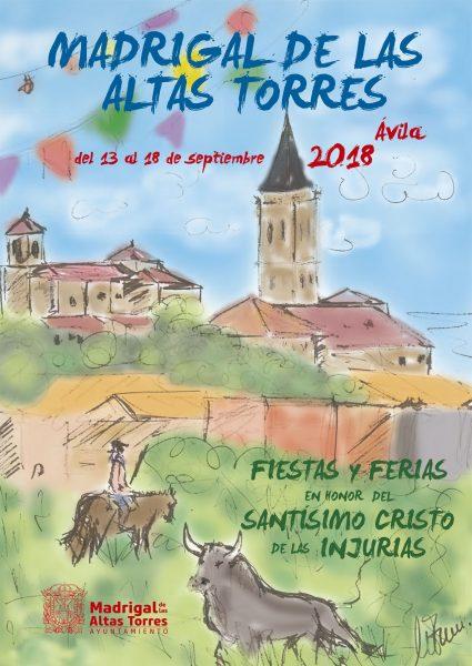 Cartel Programa Fiestas Madrigal 2018